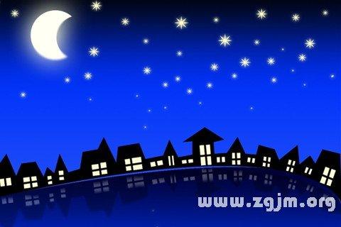 夜空星星月亮图片